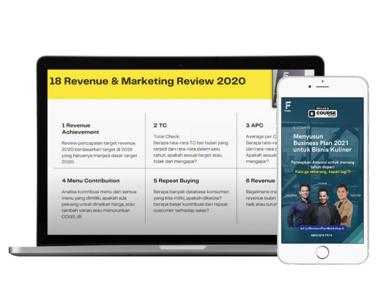 E Course Business Plan 2021 Untuk Bisnis Kuliner Sosmed Kursus Foodizz