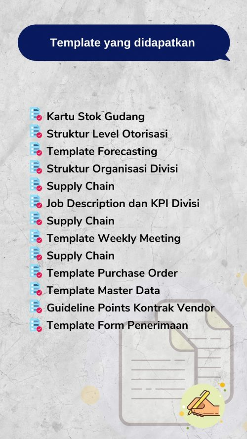 Template Supply Chain Management
